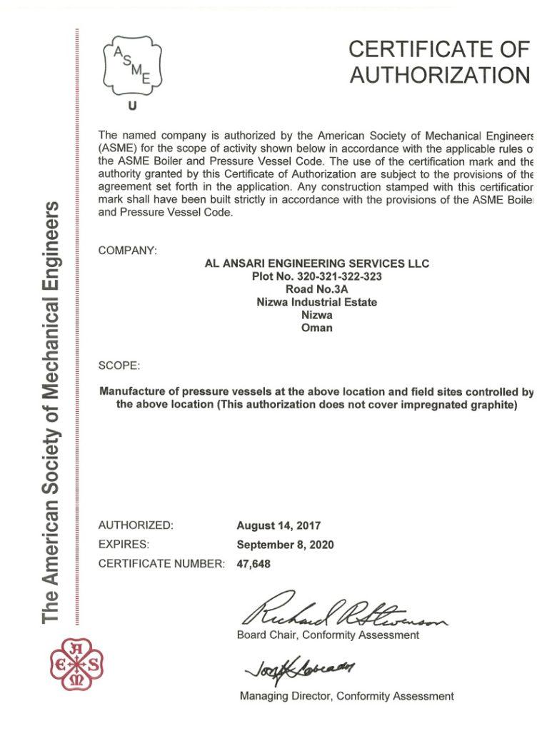 ASME-U-Stamp-Certificate