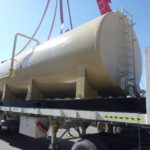 Above ground fuel storage tank ready for despatch