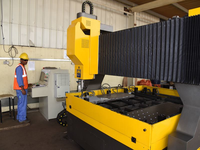 CNC Drilling Machine under operation