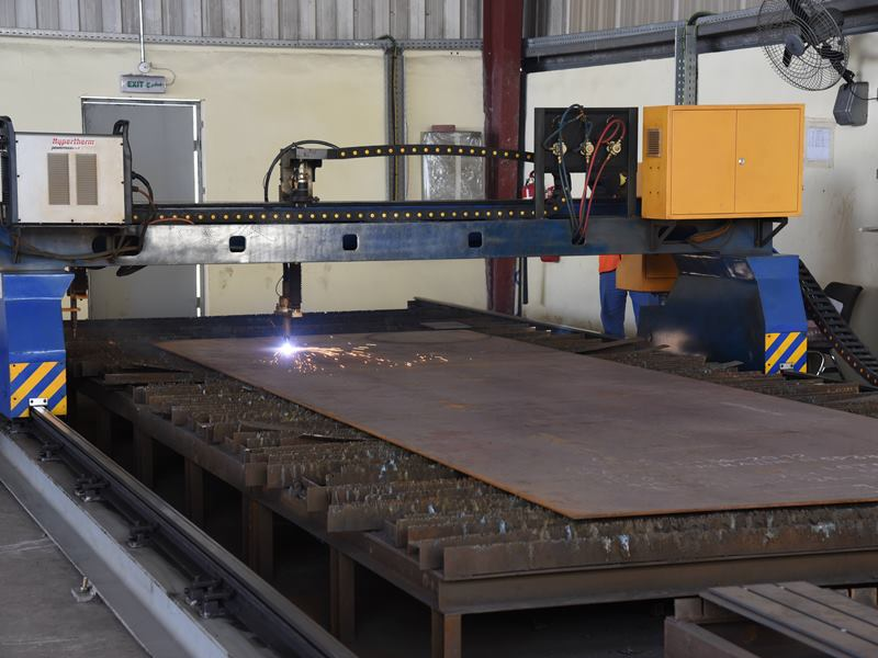 CNC Plasma Cutting Machine under operation