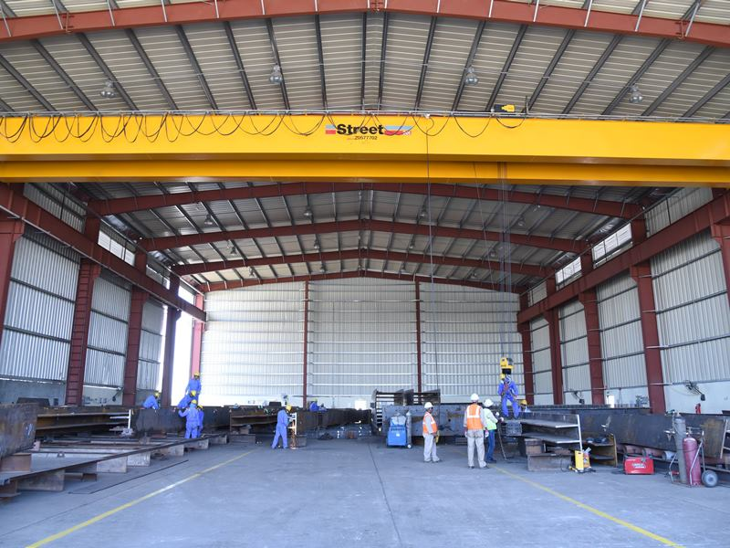 Covered Fabrication area with 20 Ton EOT Crane