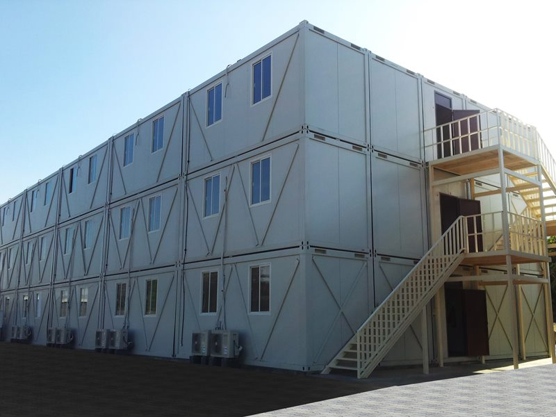 Erection of Multi storey Modular office cabins