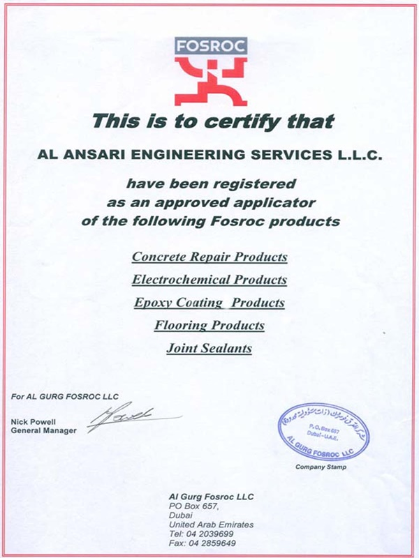 FOSROC-Approved-Applicator-Certificate