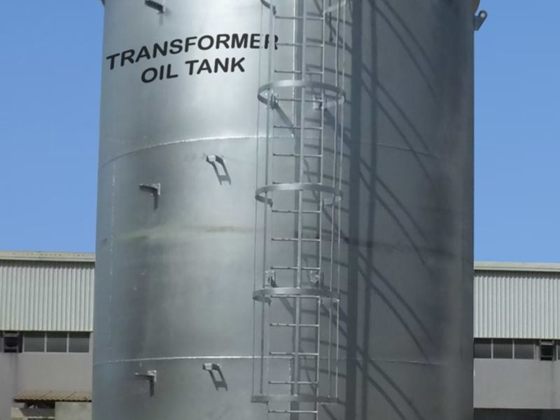 Fabrication & Erection of Transformer Oil Storage tank