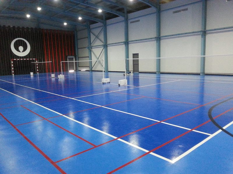 Floor coating for indoor stadium