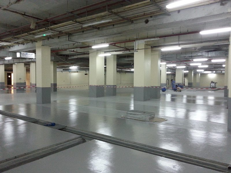 Polyurethane Floor coating for car parking at Star Hotel