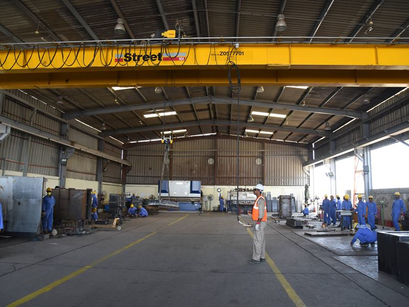 Workshop with 10 Ton EOT Crane